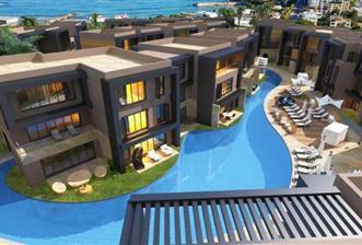 Girne Karaoğlanoğlu'nda Denize Yakın Site İçerisinde Satılık 2+1 Lüks Daireler