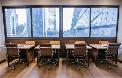 Levent'te A Plus Yeni Plazada 150 m2 Kullanıma Hazır Ofis