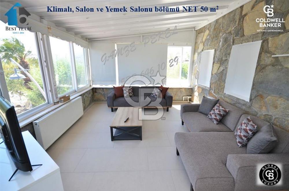 ORTAKENT YAHŞİ de DENİZE SIFIR EŞYALI KİRALIK 110 m2/ 2+1