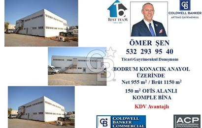 BODRUM KONACIK SHELL ARKASI 1150 m2 DEPO, ÜRETİM TESİSİ.